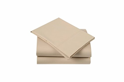 Affluence 300 Thread Count Cotton/Polyester Sheet Set (Full Sheet Set, Taupe) ()