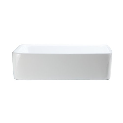(DECOLAV 1454-CWH Gemma Classically Redefined Rectangular Above-Counter Lavatory Sink, White)