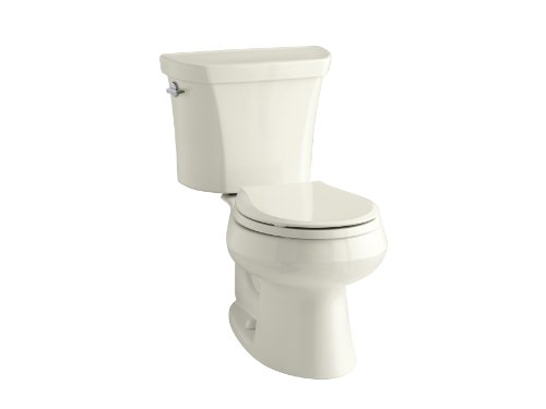 KOHLER K-3987-96 Wellworth Two-Piece Round-Front Dual-Flush Toilet