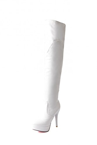 CXQ-Boots qin&X Women's Stiletto High Heels High Over The Knee Long Boots Platform Shoes Big size White Ir9hLHcrjm