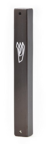 Aluminum Weather-proof Mezuzah Covers (5.7 inches (for12 cm scroll), brown)