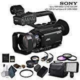 Sony HXR-NX80 Full HD NXCAM with HDR and Fast Hybrid AF (HXR-NX80) with 64GB Memory Card, Extra Battery, UV Filter, LED Light, Case, Telephoto Lens, Wide Angle Lens, and More - Advanced Bundle by Mad Cameras