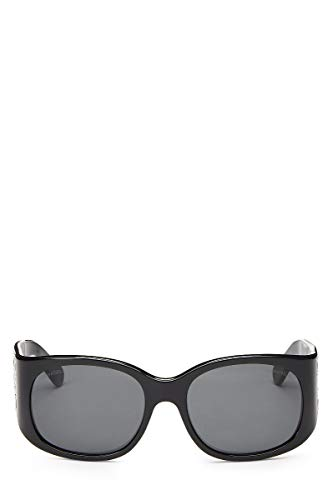 CHANEL Black Acrylic Sunglasses (Pre-Owned) (Chanel Sunglasses With Bows On The Side)