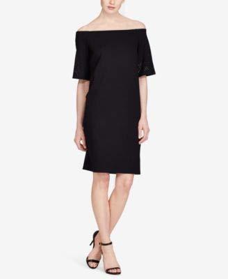 Lauren Ralph Lauren Women's Laser-Cut Ponte Shift Dress (M, Polo Black)