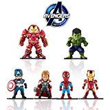 Marvel Avengers Titan Hero Series Exclusive-iron Man、Hulk、Thor、Spider-man、Captain America、Hulkbuster 6 Figure Set/Car decoration -