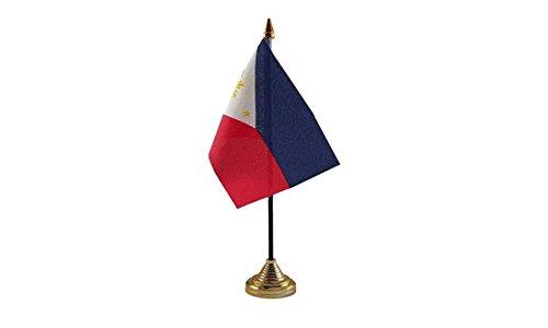 Las Banderas Filipinas Bandera de mesa: Amazon.es: Jardín