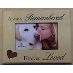 dog memorial picture frame always remembered forever loved - Dog Memorial Picture Frames