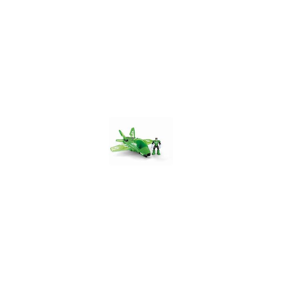 DC Super Friends Hero World Action Figure Vehicle Green Lantern Jet