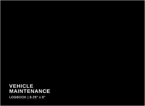 vehicle maintenance logbook 8 25 x 6 black car motorbike truck