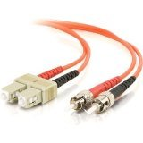 C2G/Cables to Go 13572 SC-ST 62.5/125 OM1 Duplex Multimode PVC Fiber Optic Cable (30 Meters, Orange)