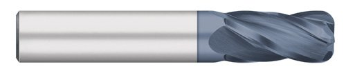 Corner Radius Titan TC74150 Solid Carbide End Mill 4 Flute 1 Cutting Length 0.030 Corner Radius 1//2 Cutting Diameter 3 Overall Length 0.030 Corner Radius AlTiN Coated 30 degree Helix 1//2 Cutting Diameter Regular Length 3 Overall Length