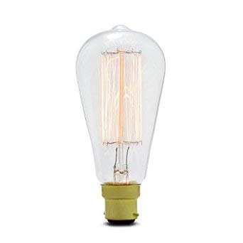 Ledsone Style vintage industriel Cage d/écureuil Filament Edison lumi/ère Bulbs-st 64/B22