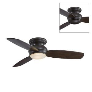 F593 44 Traditional Concept Flush Mount Fan F593 PW Ceiling (Minka Aire Four)
