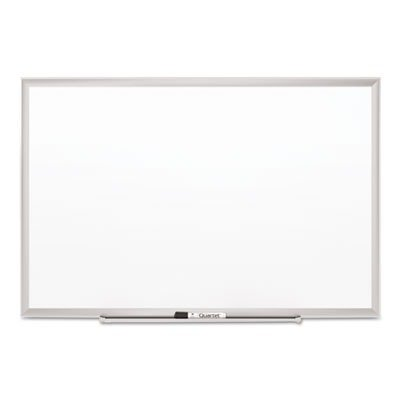 Quartet Porcelain Whiteboard, Magnetic Dry Erase Board, Premium, 8' x 4', DuraMax, Silver Aluminum Frame (2548) - Premium Porcelain Markerboard