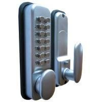 Digital Code Lock Door Lock - Chrome - Weather Resistant KeyPad Combination Key Coded Button Lock by HomeSecure