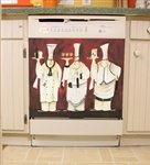 3 Chefs Appliance Art Decorative Magnetic Dishwasher Front Panel Cover - Quick, Easy & Affordable DIY Kitchen Upgrade - Print by Jennifer Garant
