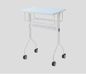 8-5404-04 ワークテーブル ブルー カゴ付き 645×445×900mm   '3930 B073F413FF