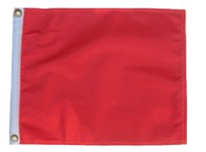 ORANGE 11in.x15in. Flag with Grommets / Great for Boats or Golf Carts by SSP Flags Inc