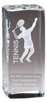 Express Medals Customizable Optical Crystal Male Tennis Trophy Award Gift