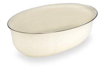 Lenox Courtyard Platinum Ivory China Open Vegetable Bowl