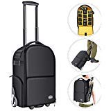 Neewer 2-in-1 Camera Backpack Luggage Trolley Case with Doub