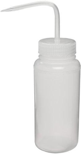 Bel-Art Wide-Mouth 500ml (16oz) Polyethylene Wash Bottles; Natural Polypropylene Cap, 53mm Closure (Pack of 6) (F11620-0500)
