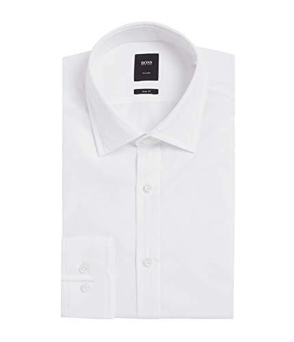 Hugo Boss Men's 'T-Shane' White Slim Fit Egyptian Cotton Dress Shirt 16, 33/34