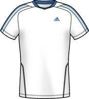 adidas - Camiseta de pádel para hombre, tamaño XL, color blanco/bright azul