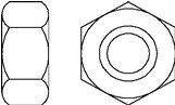 7 pcs Metric DIN 934 M36X2 Regular Hex Nut Steel Class 8