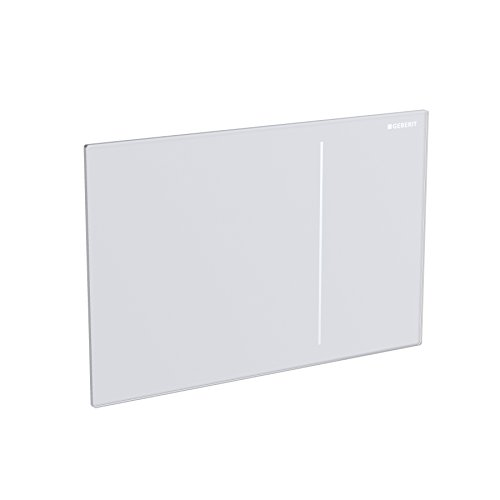 Geberit 115.620.SI.1 Sigma70 Flush Plate, White Glass