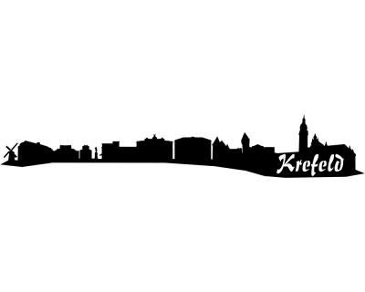 Samunshi® Aufkleber Krefeld Skyline Autoaufkleber in 9 Größen und und und 25 Farben (140x25cm kupfermetalleffekt) B007JFPM3O | Bekannt für seine gute Qualität  30d183