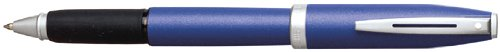 Rollerball Pen, with Rubber Grip, Chrome Clip, Blue Barrel (SHF92623) Category: Roller Ball Pens