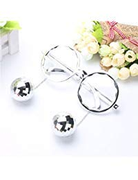 Ponce Fashion Shiny Hanging Disco Ball Glasses Creative Sunglasses Birthday Party Supplies