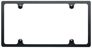 Billet Specialties BLK55020 Billet License Plate Frame Plain slim line (Billet License Plate)