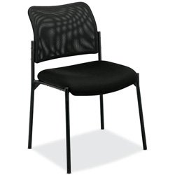 Basyx VL506MM10 VL506 Stacking Guest Chair, Mesh Back, Padded Mesh Seat, (Mesh High Back Lounge Chair)