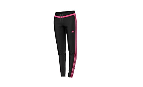 - adidas Women's Tiro 15 Training Pants, Black/Neon Pink/Black, X-Large