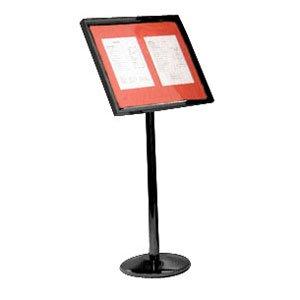 Single Pedestal Broadcaster- Black Frame with Menu - Single Pedestal Aarco