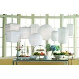 Tag Oversized Round Paper Lanterns, Set of 3, White, Assorted Sizes by tag