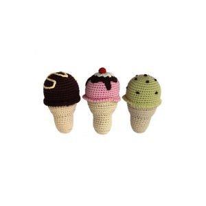 Ice Cream Cone R115 Organic Baby Rattle Cheengoo