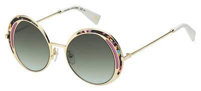 - Marc Jacobs Women's Top Frame Round Sunglasses, Multi Black/Green Aqua, One Size