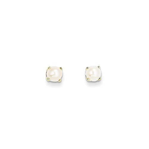 14k Yellow Gold Freshwater Pearl Earrings June