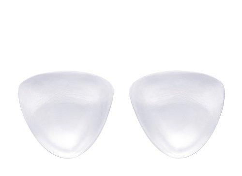175g/pair - SODACODA Inserti in silicone triangolari morbido - Imbottiture per reggiseni trasparente