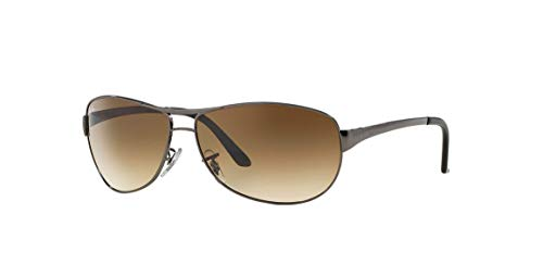 Ray-Ban RB3342 Warrior Aviator Sunglasses, Gunmetal/Brown Gradient, 63 mm (Ray Ban Optiker)
