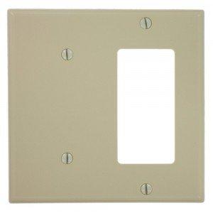 Leviton 80708 I Combo Wall Plate 2 Gang Blankdecora Gfci Nylon