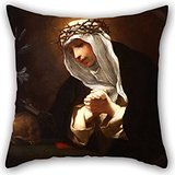 20 X 20 Inches / 50 By 50 Cm Oil Painting Franceschini, Baldassare - St Catherine Of Siena Pillowcover ,2 Sides Ornament And Gift To Sofa,floor,saloon,monther,living Room,birthday
