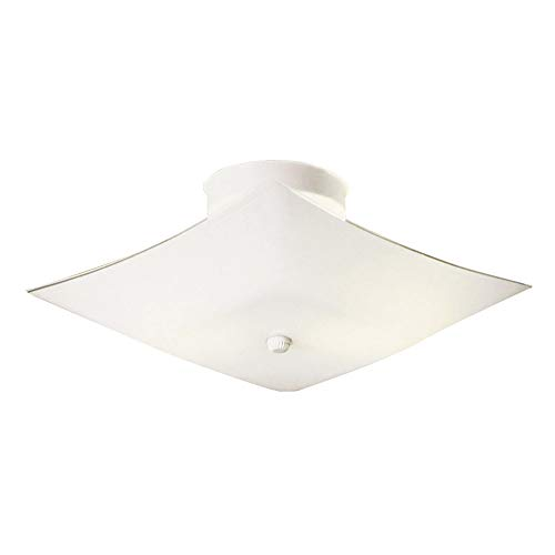 (Design House 501338 2 Light Ceiling Light, White)