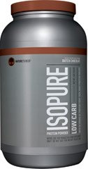 Isopure Low Carb Whey Protein Isolate Dutch Chocolate, 3 lbs Powder