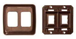 Plate, Wall Brn Dbl - PB3218
