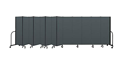 Screenflex Commercial Portable Room Divider CFSL6013-DN 6 Feet High by 24 Feet 1 Inches Long, Designer Mallard Fabric