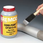 Corr-Paint CP3015-AL Protective Coating for Steel and Refractory Products, Quart